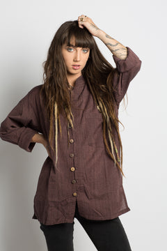 Earthy Handmade Unisex Nepalese Button Up - Hippie Hut