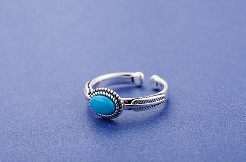 Blue Vintage Hippie Ring