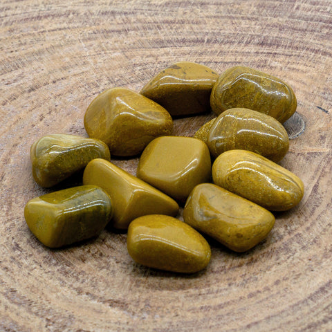 Yellow Jasper Tumbled Stone