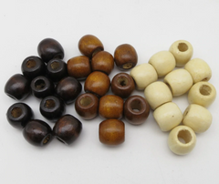 Thick Wooden Dreadlock Beads - Hippie Hut