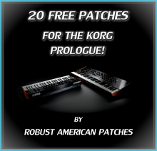 Load image into Gallery viewer, 20 Free Patches for the Korg Prologue Synthesizer