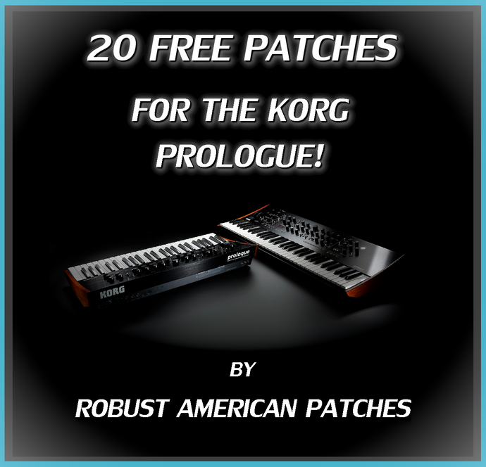 20 Free Patches for the Korg Prologue Synthesizer