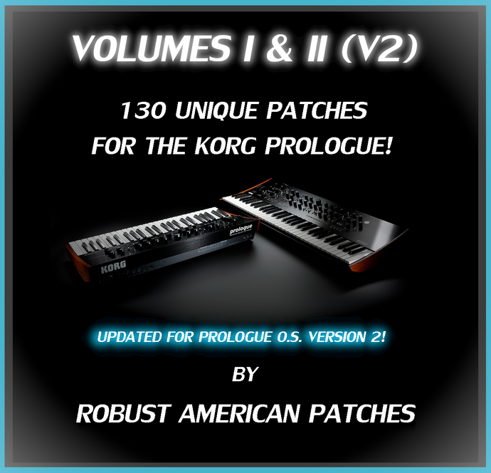 135 Patches for the Korg Prologue Synthesizer (V2) - Volumes I & II