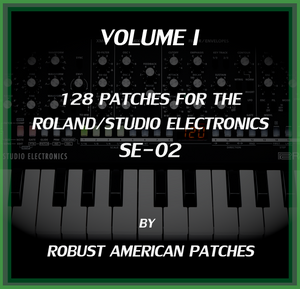 128 Patches for the SE-02 Synthesizer (Volume I)
