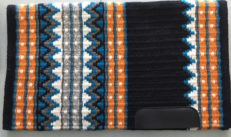 Saddle Pad, Western, Show, Thick Woven Pad with Wear Leathers by Dale Chavez