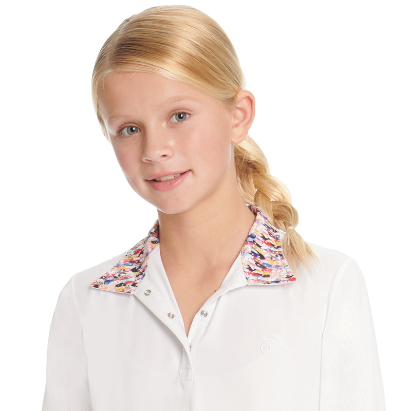 English Show Shirt, CHD Ellie Quarter Snap L/S