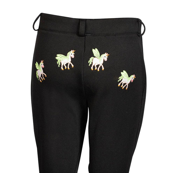 Breeches, Children's Unicorn Unifleece Pull-On Stretch Fleece Knee Patch Winter Jodhpurs