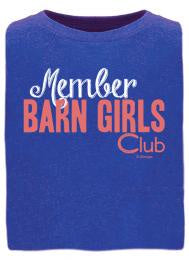 T-Shirt, Member Barn Girls Club- youth
