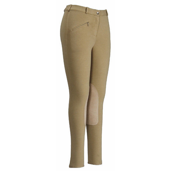 Breeches, Ladies Ribbed Low Rise, Knee Patch