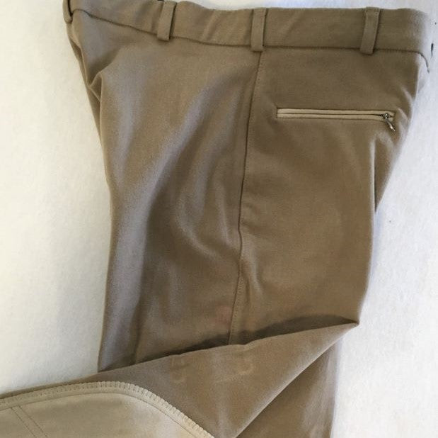 Breeches, Ladies Cotton Twill, Knee Patch