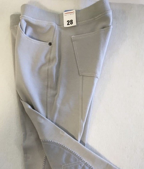 Breeches, Ladies Cotton, Knee Patch, Pull On Jeans