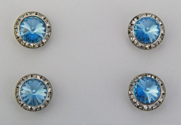 Magnetic Number Sign Pin, Aqua Swarovski Crystal