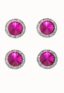Magnetic Number Sign Pin, Fuschia Swarovski Crystal