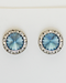 Earrings, Swarovski Denim Rivoli Stone With Crystal Stone Imiation Rhodium Earring