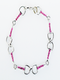 Bracelet, Snaffle Bits Imitation Rhodium With Rose Colored Stone Accents