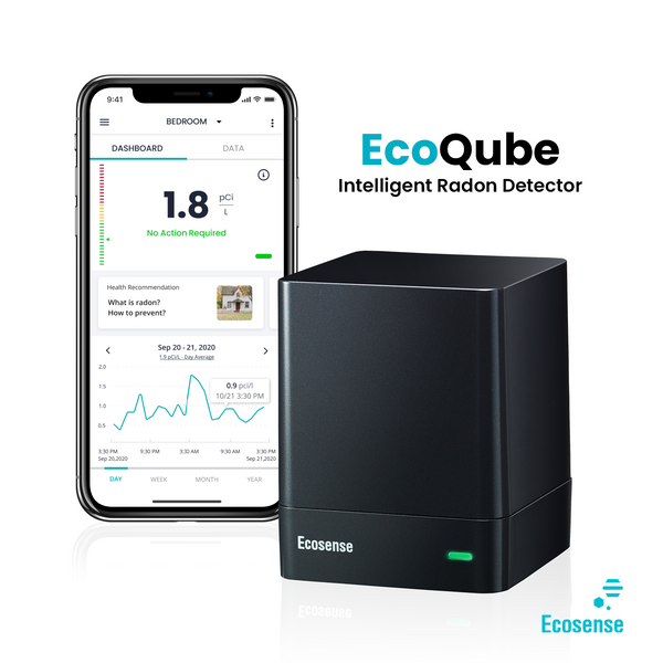 Ecosense Launches EcoQube - Cutting Edge, Fast, Accurate, Connected Intelligent Radon Detector
