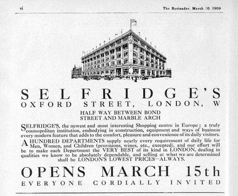 Vintage Selfridges Ads
