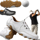 2019 new  Golf Shoes Man Golf Sneakers Lace up non slip light breathable soft comfort  Sports Shoes MEN with Studs