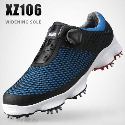 1pair brand new PGM Golf Shoes Professional Men's Waterproof Sports Shoes Wide Edition Sole Rotary Laces Anti-sideslip Shoe Nail