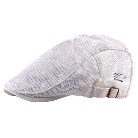 golf Beret Cap Women Men Casual Style Breathable Adjustable Sunshade Mesh Peaked Hat Outdoor Headwear Apparel Accessories