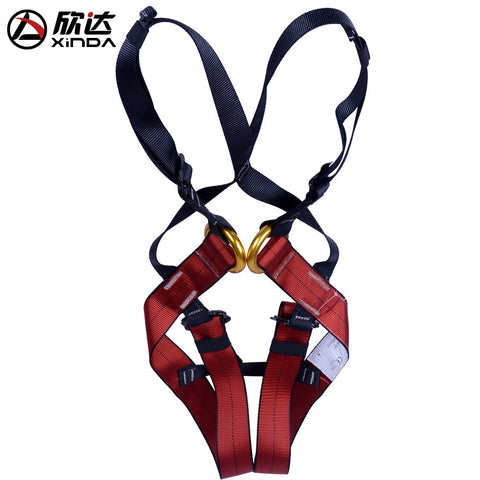 XINDA Harness Bust Baby Seat Belt Child Outdoor Rock Climbing Harness Rappelling Equipment Harness Seat Belt with Carrying Bag