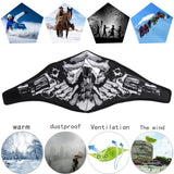 Windproof Warm Skull Cycling Full Face Ski Mask Winter Warmer Bike Riding Running Skiing Climbing Tactical Warm Training Mask