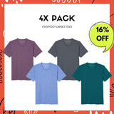 4X Pack - Soft Every Day Tee - Unisex