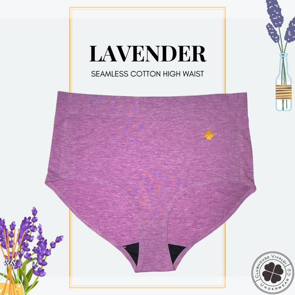 Cotton High Waist Shaper - Lavender