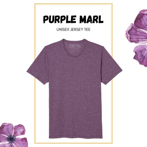 Soft Crew Tee - Purple Marl Heather