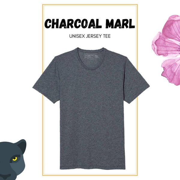 Soft Crew Tee - Charcoal Heather