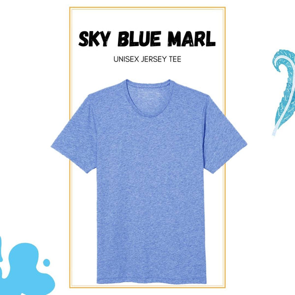 Soft Crew Tee - Blue Heather