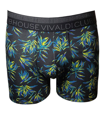 Black Floral - Boxer Brief