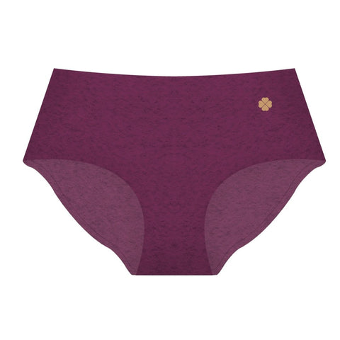 Cotton Seamless Full-Brief - Fuscia