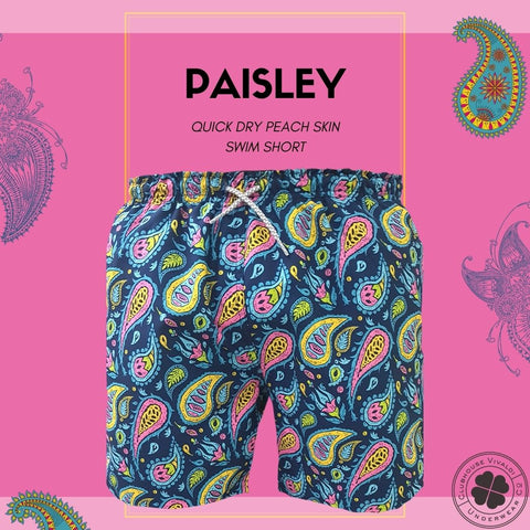 Paisley Quick Dry Swim Short