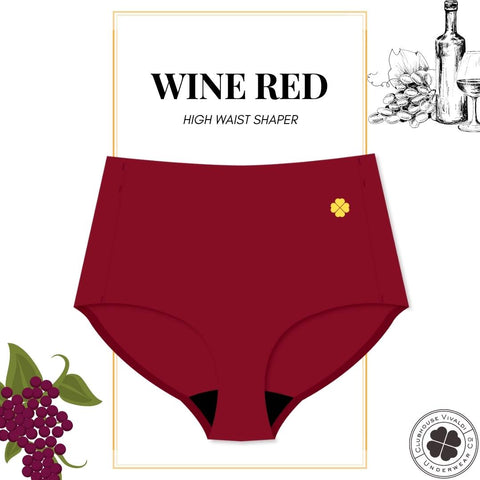High Waist Shaper - Wine Red