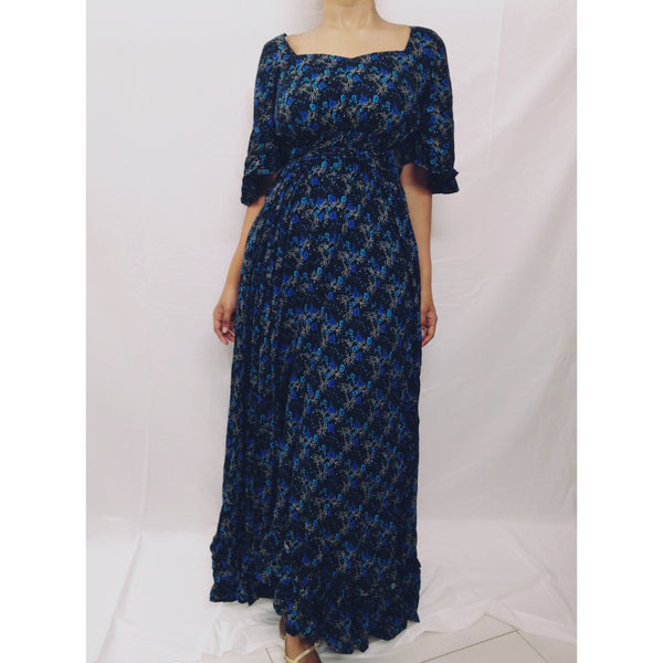 BM - Blue midnight maxi dress