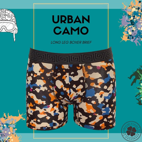 Urban Camo - Long Leg Boxer Brief