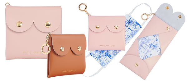 étui pochette range masque cuir made in italy