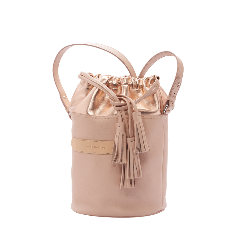 Fuji - Sac Seau Nude & Or Rose