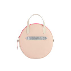 Mezzo Trianon - Sac Rond Rose Poudré - zip fluo rose