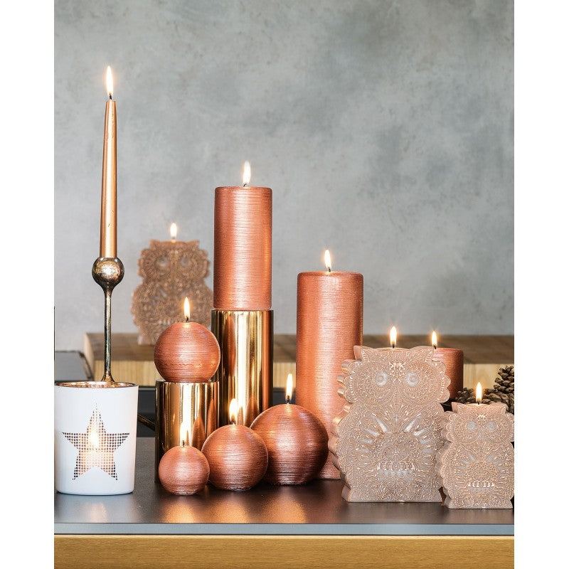 Dinner Candle Tapered D.22mm H.290mm Copper
