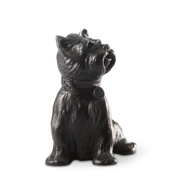 """Chester' Dog Candle Black"