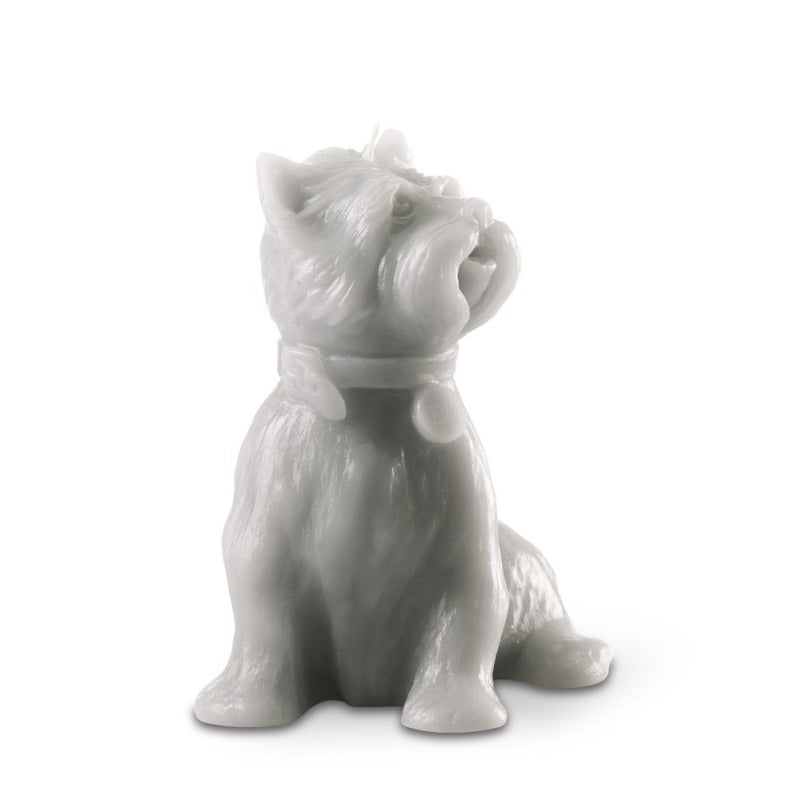 """Chester' Dog Candle Grey"