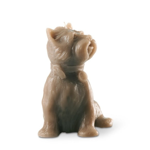 """Chester' Dog Candle Taupe"
