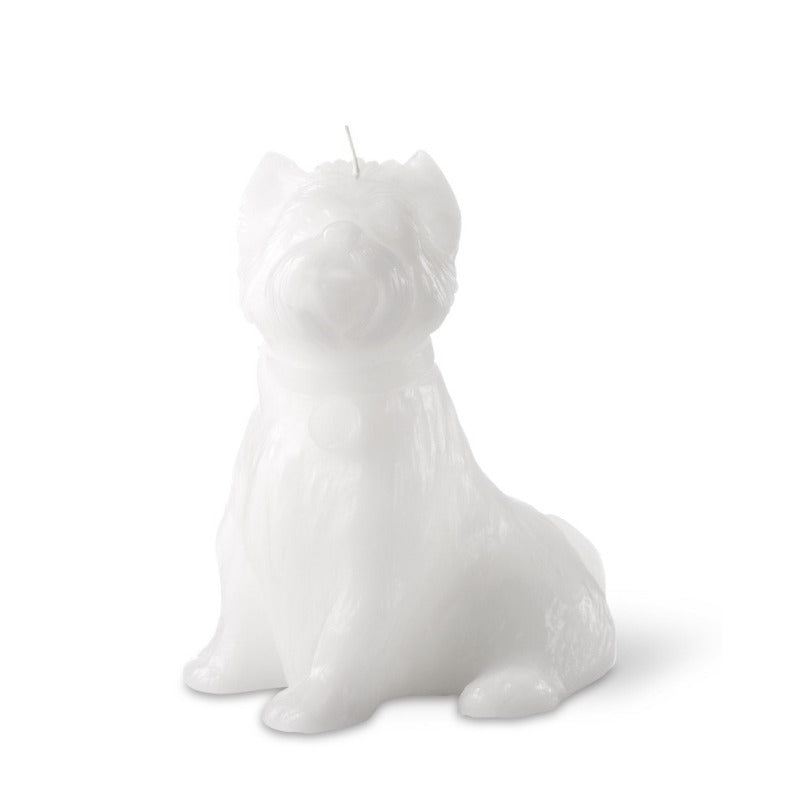 """Chester' Dog Candle White"