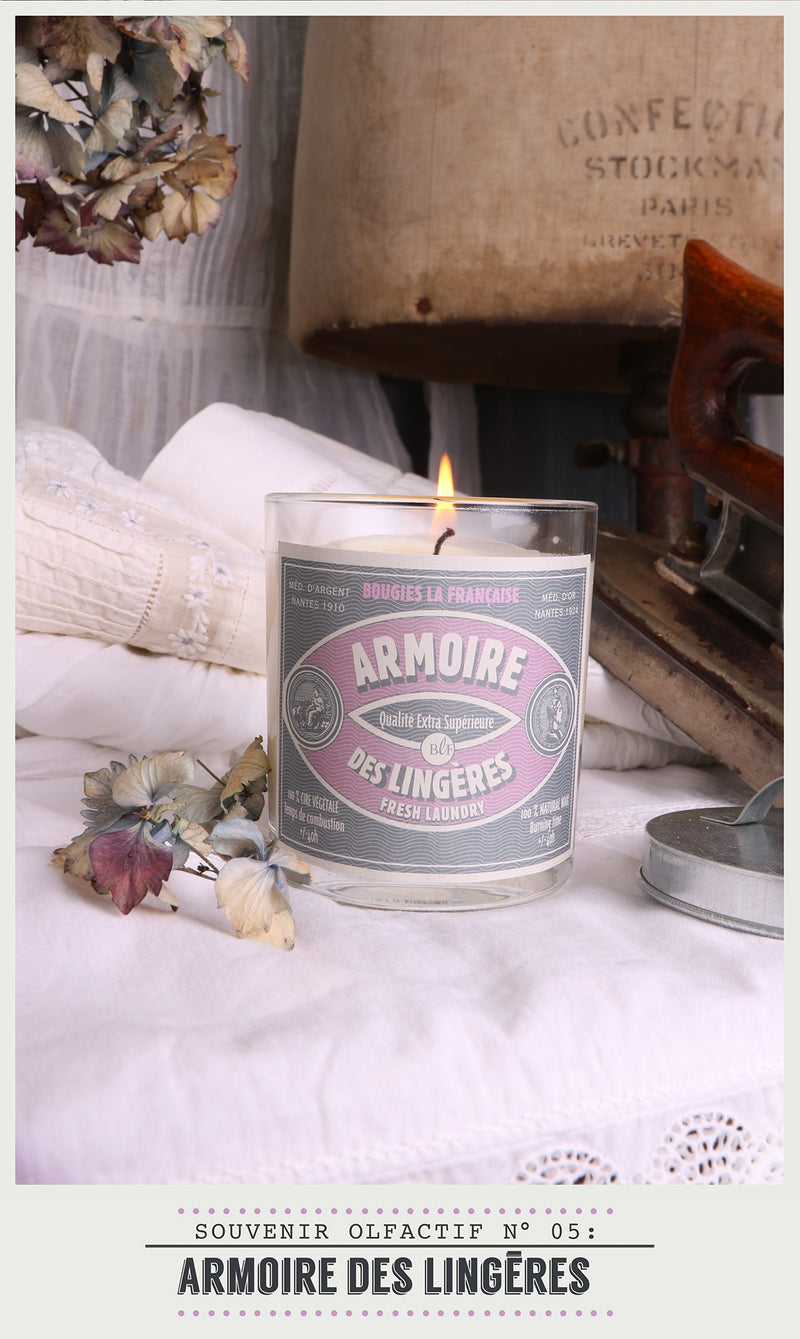 Scented Candle in Glass with Galvanised Lid 'Fresh Laundry'