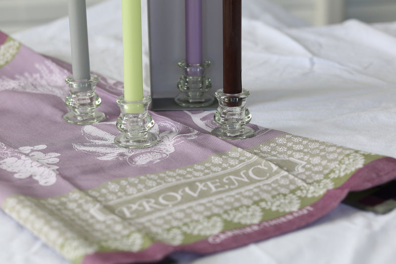 Dinner Candles and Fine Linen Gift Box Set