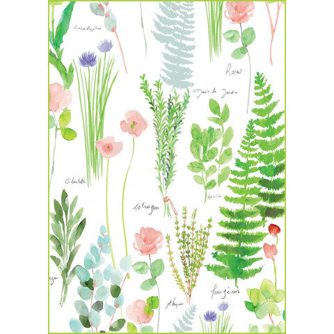 Tea Towel MILLE HERBIER PRINTEMPS