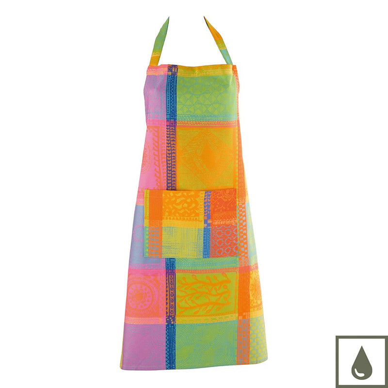 Set 1 Tea Towel + 1 Apron Mille Wax Creole COATED