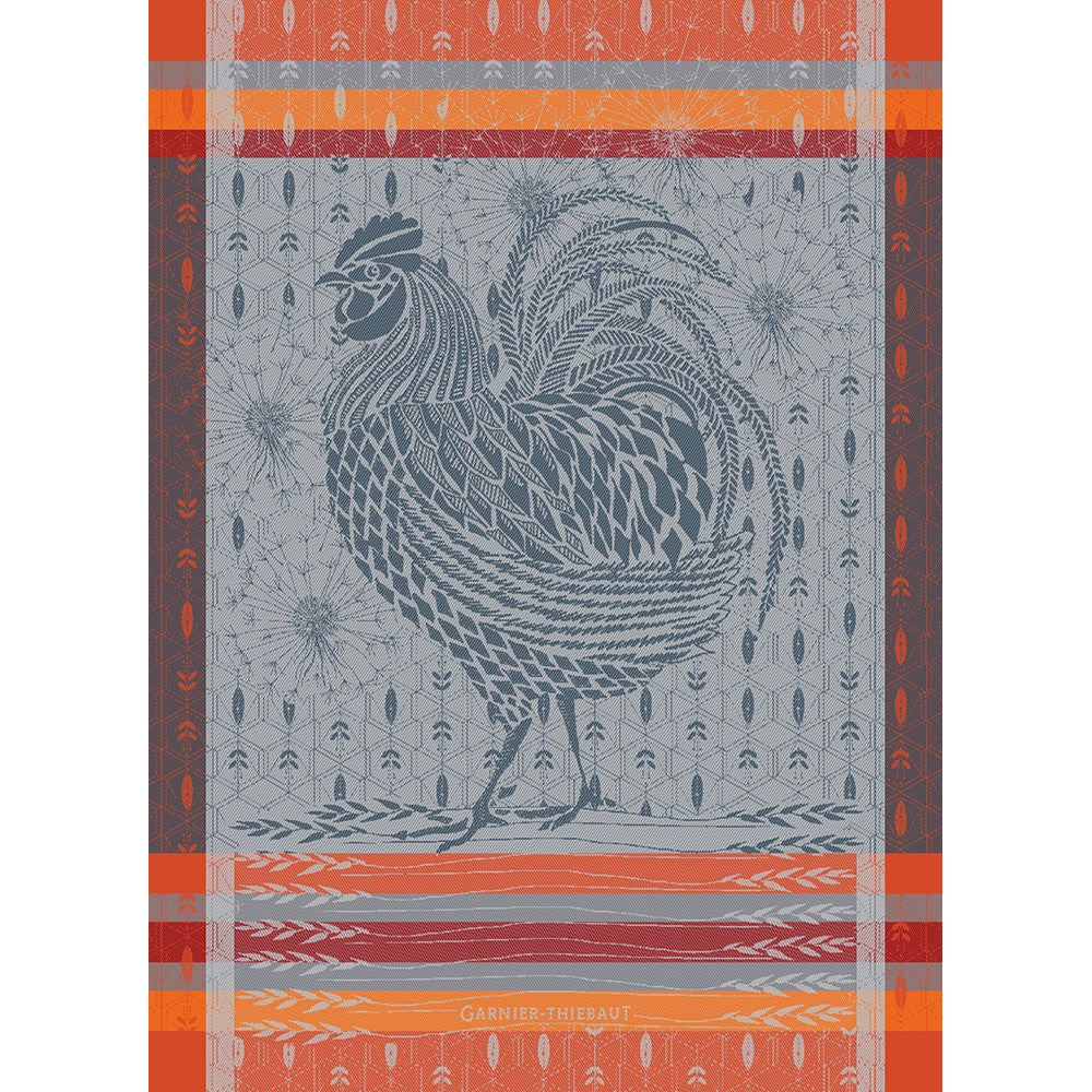 Tea Towel COQ DESIGN ORANGE